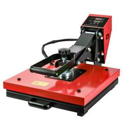 Red 15x15 Heat Press Machine Digital Transfer Sublimation Kit For T-shirts