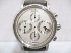 Chronoswiss Kairos Chronograph Ch7523k Automatic Silver Dial Leather Mens