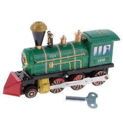 Vintage Tin Toys Train Locomotive Model With Wind Up Key Collectible Gifts