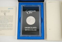 1884-cc 1 Carson City Morgan Silver Dollar - Uncirculated - Us Mint Certified