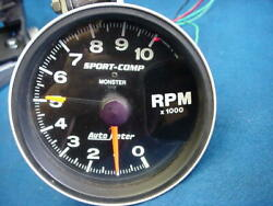 Autometer Sport Comp Monster Tach Tachometer 10000 Rpm 5 Race Chevy Ford