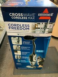 Bissell Crosswave Cordless Max All-in-one Wet Dry Vacuum Cleaner Black 2554
