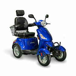 Ewheels Ew-46 4 Wheel 3 Speed Electric Battery Medical Mobility Scooter Blue