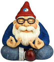The Ohm Gnome - 8.5 Tall Smiles And Serenity For Your Home Or Fairy Garden By