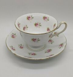 Wileman Foley Shelley Rosebud Tea-cup And Saucer 1800's 2pc Set Mint Antique