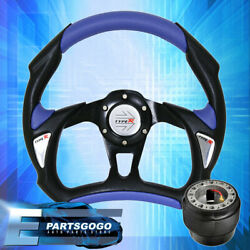 Battle Style Pvc Leather Steering Wheel + Hub Adapter+type R Horn 89-05 Eclipse