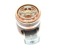 Rosegold And Wood Diamond Skull Heavy Duty Herb Grinder With Easy-access Drawer