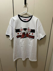 Cm Punk Aew Ringer Style T-shirt Best In The World All Out Size Xl