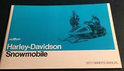 Vintage 1972 Amf Harley-davidson Snowmobile Owners Manual New 543