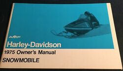 Vintage 1975 Amf Harley-davidson Snowmobile Owners Manual New 541