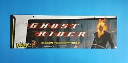 Ghost Rider Store Display Ceiling Sign 2007 Sony Ps2 Psp Playstation Advertising