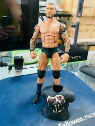 Wwe Randy Orton Rare Earlier Series Elite With Beard Head Scan And Rubber Shirt