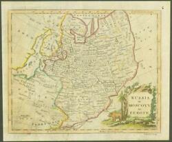 1770 Original Antique Map Russia Moscovy In Europe By T Kitchin Hand Coloured