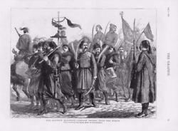 1876 Antique Print - Turkey Istanbul Constantinople Marching Troops 238