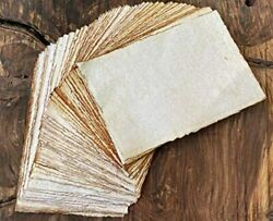 Antique Deckle Edge Blank Cards, 4x6, Recycled, Package Of 50 - Thick 130 Gsm