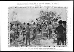 1909 Antique Print - Africa German Soldiers Christmas Tree South West 409