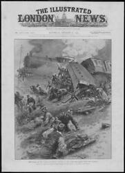 1904 Antique Print - Wales Flying Welshman Wreck Disaster Trains 245