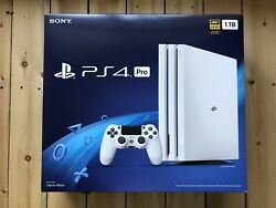 Sony Ps4 Pro 1tb Glacier White Console - Box And Xtra Controller - Great Condition