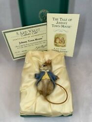 R. John Wright Johnny Town Mouse Hand Signed By Rj Wright Doll Box And Coa
