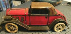 Vintage 1930's Marx Tin Cadillac Roadster Wind-up With Battery Op Head Lights