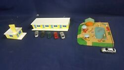 Rare Vintage Ho Scale Vintage Public Swimming Pool And Bachmann Hotel Built Read