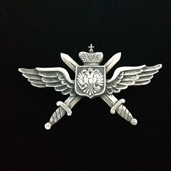 Faberge Antique Imperial Russian 84 Silver Military Jeton Metal Pin Badge Ww1 Ru