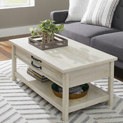 Farmhouse Coffee Table Side Accent Modern Rustic Storage Living Room Furniture