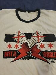 Cm Punk Aew T-shirt Xl I Was There Unworn New Best In The World United Center