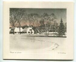 Vintage Christmas Hand Colored Photo Print White House W S Robbins Greeting Card