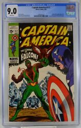 Captain America 117 Cgc 9.0 White Pages 1969 1st Appearance Falcon