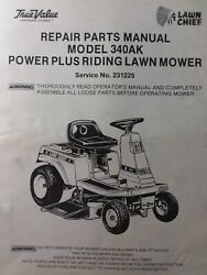 Lawn Chief 340 340ak Rear Engine Riding Mower Tractor Parts Manual True Value