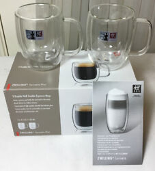 Zwilling J.a. Henckels Double Wall Double Espresso Glass Mugs, 4.5 Oz Set Of 2