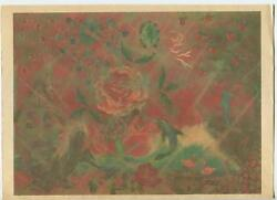 Mermaid Nautical Garden Rose Dolphin Shabby Shore Chic Print On Antique Paper