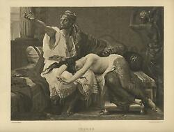 Antique Story Of Tamar From Bible Book Of Genesis Artistic Nude Woman Art Print
