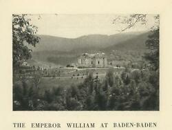 Antique Baden Baden Wurttemberg Germany Black Forest William's House Small Print