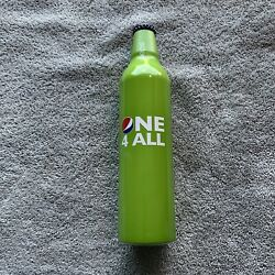 Pepsi Cola Aluminum Bottles Wordplay Green One 4 All - Unopened -great Condition