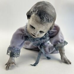 Vintage Creepy Doll Crawling Zombie Baby Horror Halloween Haunted House Prop B