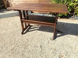 Mission Style Furniture Flip Top Table To A Bench Vintage Bench Ford And Johnson