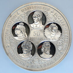 1975 Cayman Islands Uk Elizabeth Victoria Mary Anne Pf Silver 50 Coin Ngc I96729