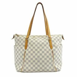 Louis Vuitton Tootary Mm Tote Bag Women 's White System Dami Air Zulu No.9495