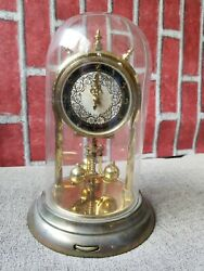 Schatz Model 53 2 2 Jewels Anniversary Clock With Glass Dome Vintage As Is