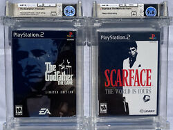 2 Mint Sealed Wata 9.6 A+ Ps2 The Godfather Le + Scarface Playstation 2