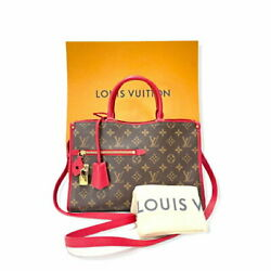 Louis Vuitton Popan Cool Pm 2way Rouge M43433 Du4127 Previously Owned No.2602