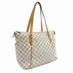 Louis Vuitton Tootary Mm Tote Bag Women 's White System Dami Air Zulu No.831