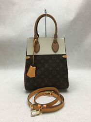 Louis Vuitton Tote Bag Leather Brw Total Pattern Field Mm Previously No.5950