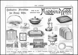 1910 Advertising Mappin And Webb Novelties For Xmas Gifts 150