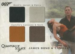 James Bond Archives 2009 - Qc27 Bond And Camille Quad Costume Relic Card 102/425