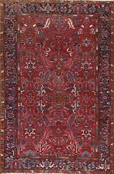 Antique Heriz Geometric Hand-knotted Area Rug Living Room Oriental 7and039x10and039 Carpet