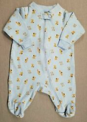 Baby Boy Clothes Faded Glory Newborn Blue Puppies Footed Sleep N Play Outfit