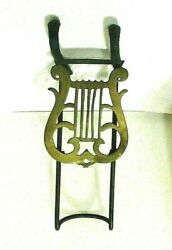Antique Cast Iron And Brass Adjustable Music Stand 14